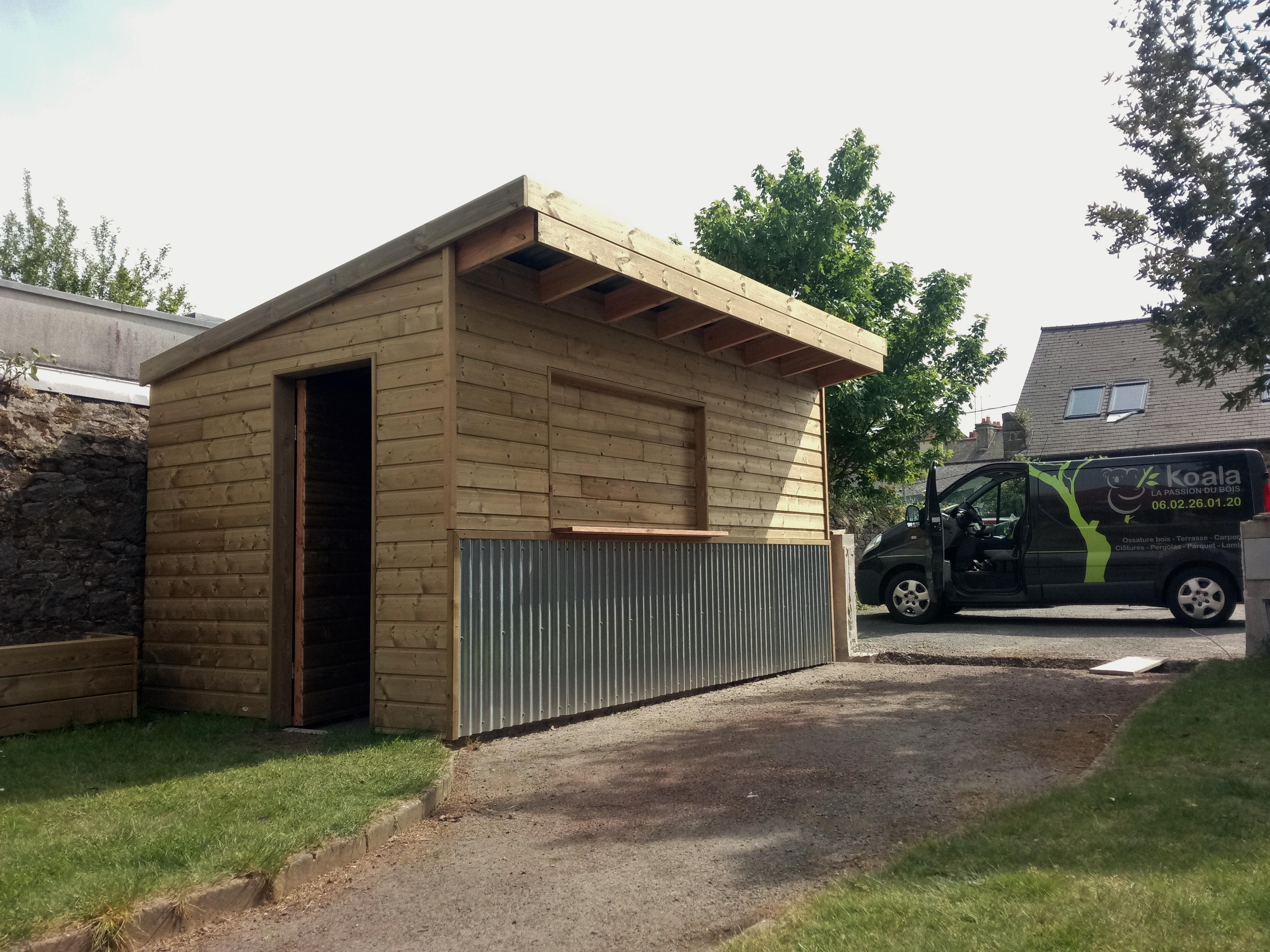 Abri de jardin fa on baraque frites koala - Baraque de jardin ...